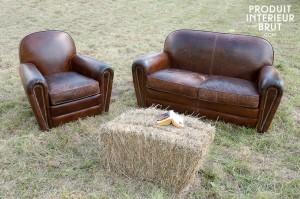 Superbes cloutages du fauteuil et du canapé « Cigar club » - P.I.B…