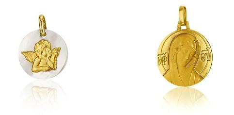 Médaille ange de Raphaël et Vierge au voile – SANCTIS